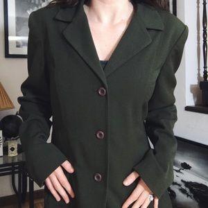 VINTAGE • green blazer